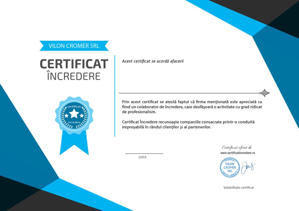 certificat de incredere